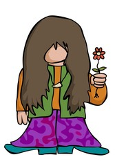 cartoon hippy