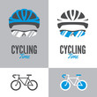 Bicycle, cycling helmet and glasses - 77832758