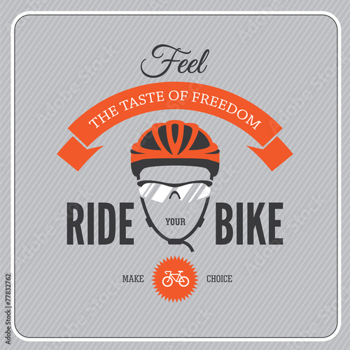Cycling motivational poster