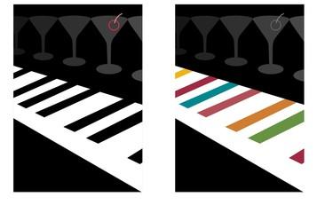 cocktail piano bar