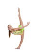 young gymnast training
