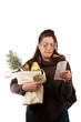 Grocery Shopper Reviewing Receipt