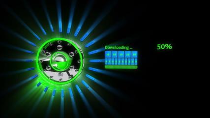 Fast 3D Download Bar
