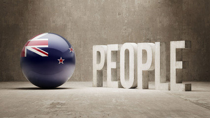 New Zealand. People Concept.