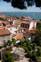 Vue sur l'Alfama depuis le Chateau de Lisbonne