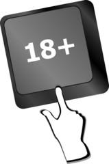 18 plus button on computer keyboard keys