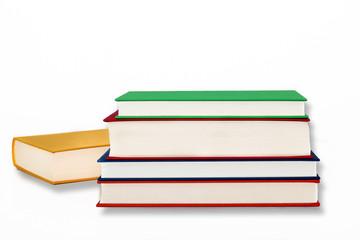 Stapel bunter Bücher