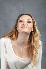 friendly smiling young woman portrait