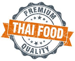 thai food vintage orange seal isolated on white