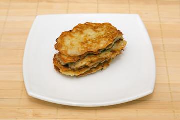 Potato cutlets, pies, fritter