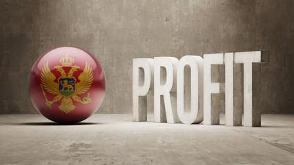 Montenegro. Profit Concept.