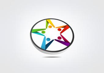 Stars Logo Sucsess logo Icon  teamWork logo team