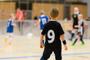 Kids indoor soccer match