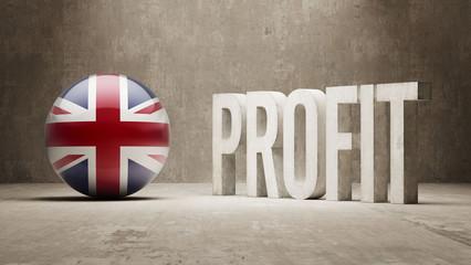 United Kingdom. Profit Concept.