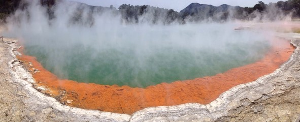 hot lake in New Zealand