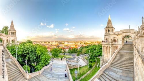 Foto op Canvas Europa Budapest, Fischerbastei und Panorama über Budapest