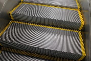 Stufen einer Rolltreppe