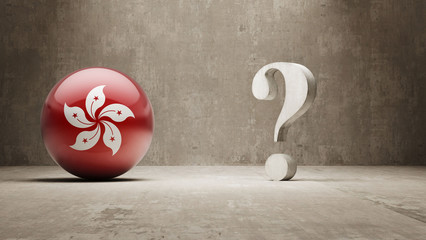 Hong Kong. Question Mark Concept.