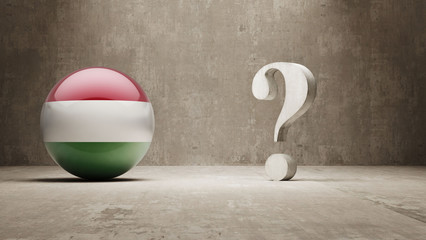 Hungary. Question Mark Concept.