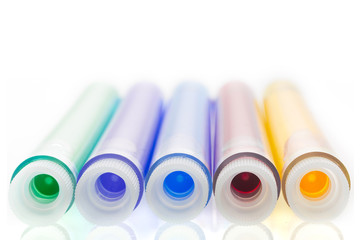Colorful Liquids in Test Tubes
