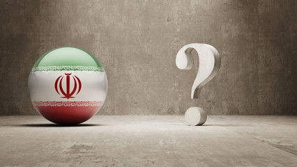 Iran. Question Mark Concept.