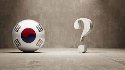 South Korea. Question Mark Concept.