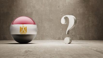 Egypt. Question Mark Concept.
