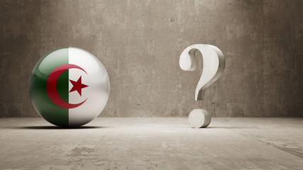 Algeria. Question Mark Concept.