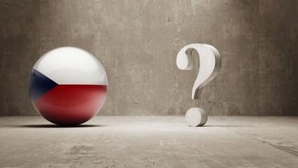 Czech Republic. Question Mark Concept.