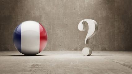 France. Question Mark Concept.