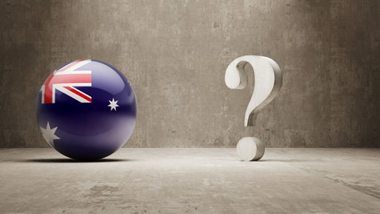 Australia. Question Mark Concept.