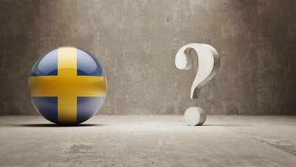 Sweden. Question Mark Concept.