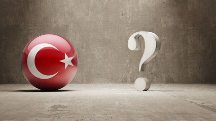 Turkey. Question Mark Concept.