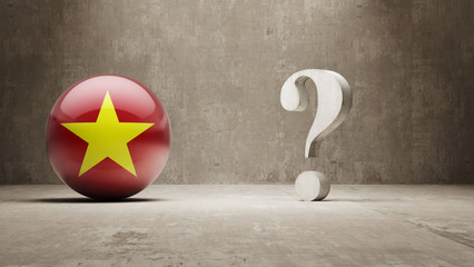 Vietnam. Question Mark Concept.