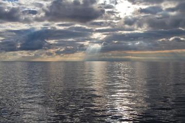 Silvery Sunrise in the sea