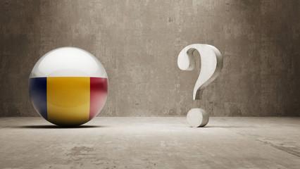Romania. Question Mark Concept.