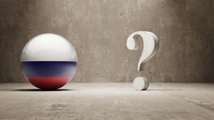 Russia. Question Mark Concept.