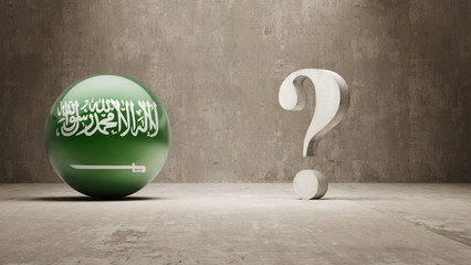 Saudi Arabia. Question Mark Concept.