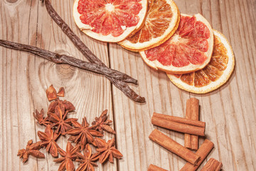 Dry fruit and spice