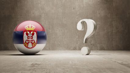 Serbia. Question Mark Concept.