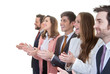 business team group applauding in meeting