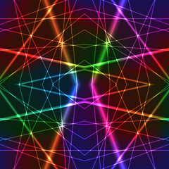 Neon Rainbow Colorful Laser Seamless Background