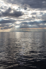 Silvery Sunrise in the sea