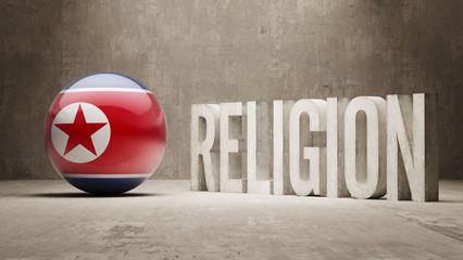 North Korea. Religion Concept.