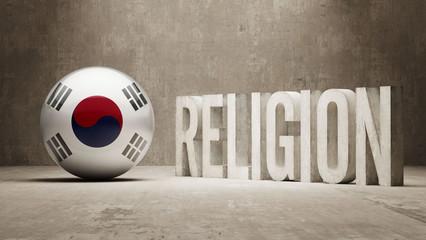 South Korea. Religion Concept.