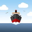 Boat on sea - 77842365