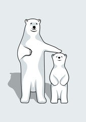 Polar Bears illustration