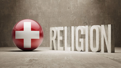 Switzerland. Religion Concept.