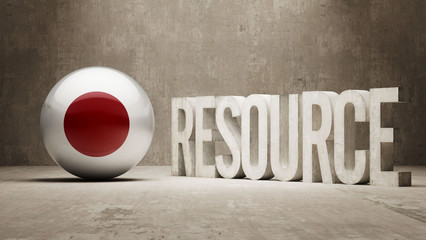 Japan. Resource Concept.