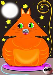 Gato y cascabel a la luz de la luna